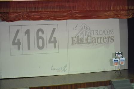Uno de los números premiados en los sorteos finales de Publicacions el Carrers
